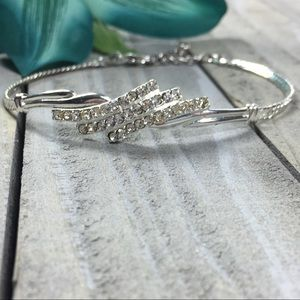AVON Vintage Silver & Rhinestone Tennis Bracelet